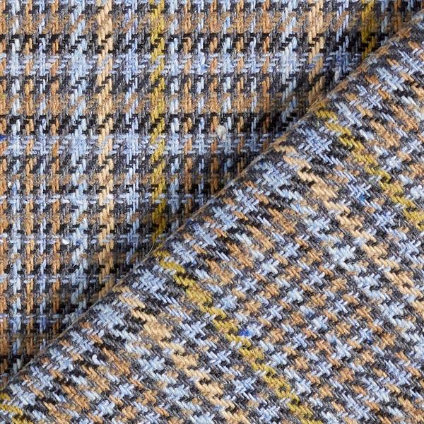 Tissu de manteau léger Prince de Galles – bleu clair/beige