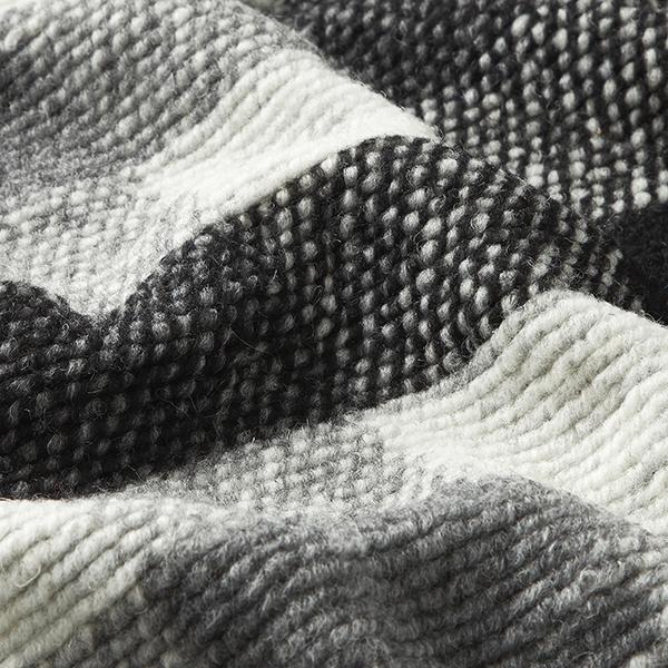 Tissu pour manteau Mélange de laine Grands carreaux – noir/blanc