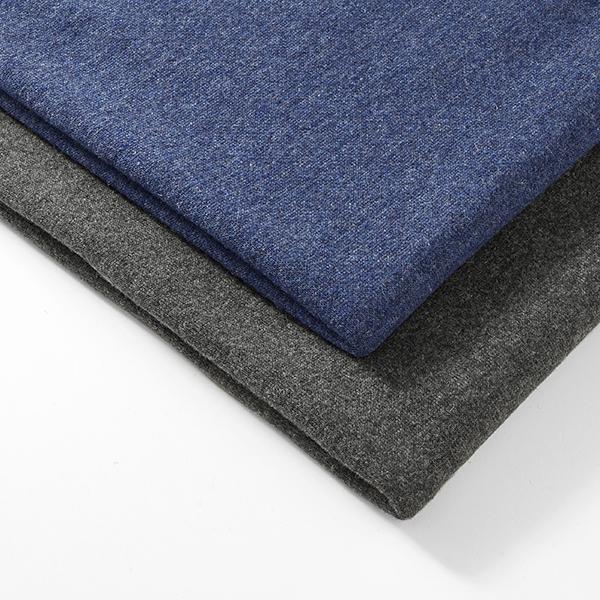 Tissu maille Mélange de laine Double face chiné – anthracite/gris