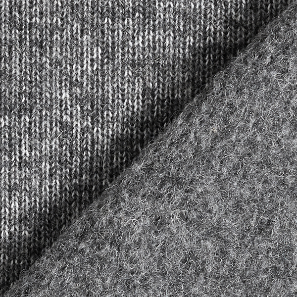 Maille foulée Mélange de laine Double face chiné – anthracite