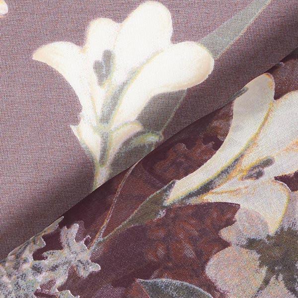 Chiffon de soie Floraison splendide – marron