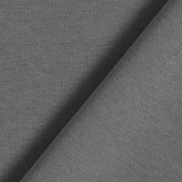 Jersey interlock uni GOTS – gris schiste