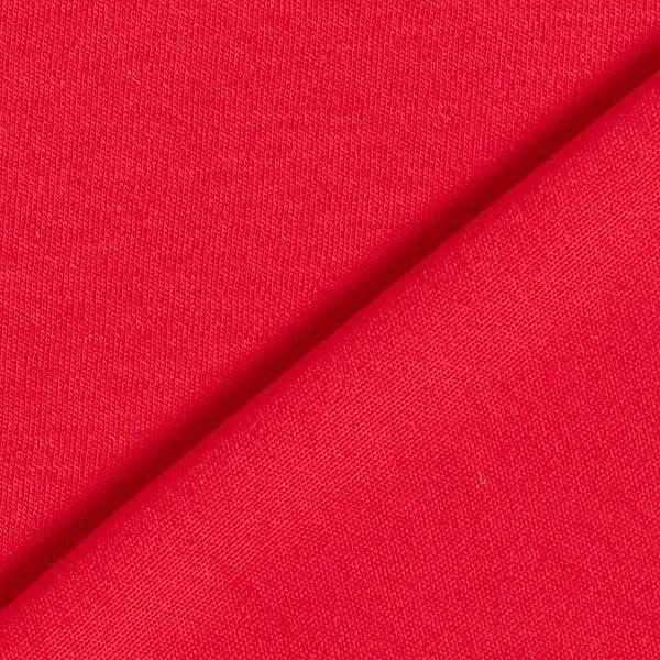 Jersey interlock uni GOTS – rouge