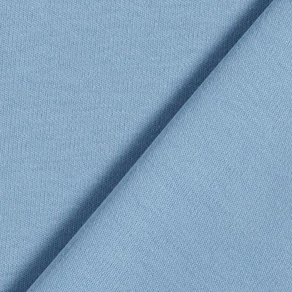 Jersey interlock uni GOTS – bleu clair