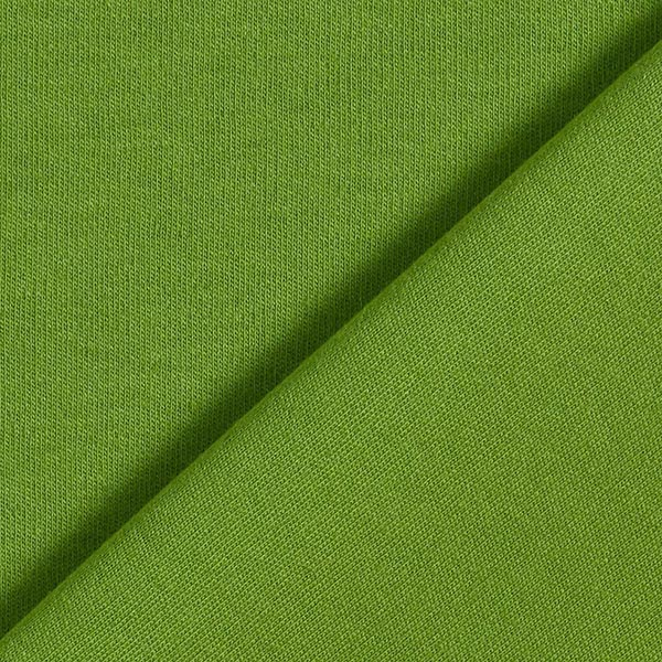Jersey interlock uni GOTS – vert pomme