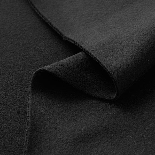 Polaire coton uni GOTS – noir