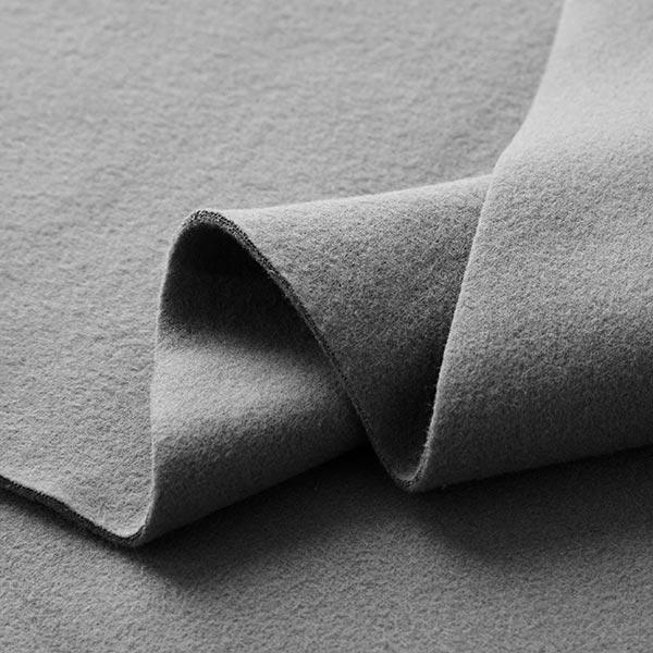 Polaire coton uni GOTS – gris schiste