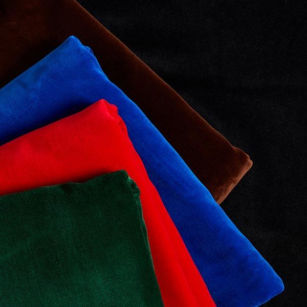 Velours de coton uni – rouge