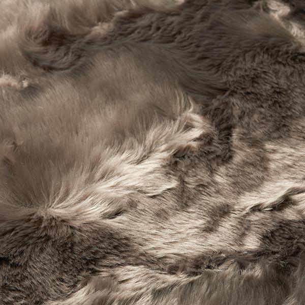 Fourrure synthétique Poil ras – marron clair