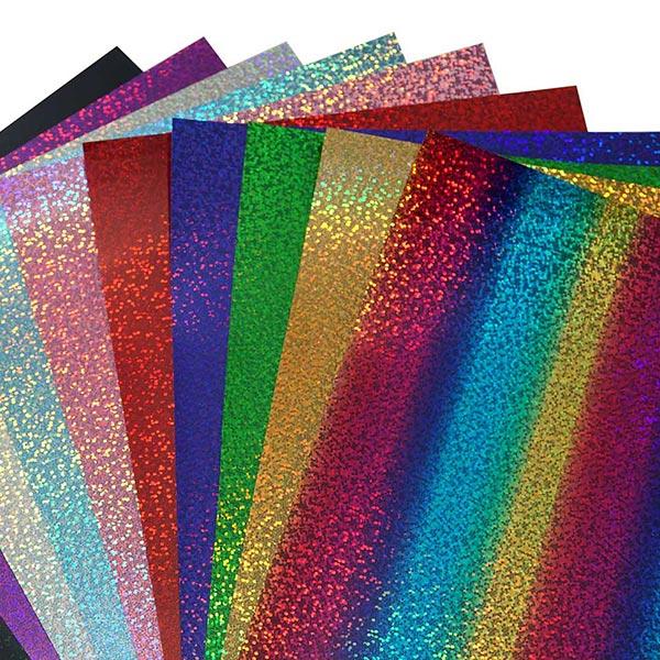Bügelfolie Hologramm Effekt DIN A4 – silber