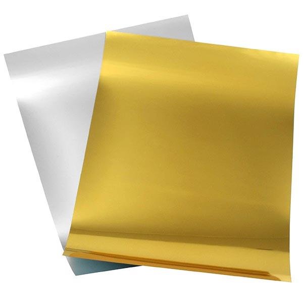 Bügelfolie Spiegelflex Hochglanzoptik DIN A4 – silber