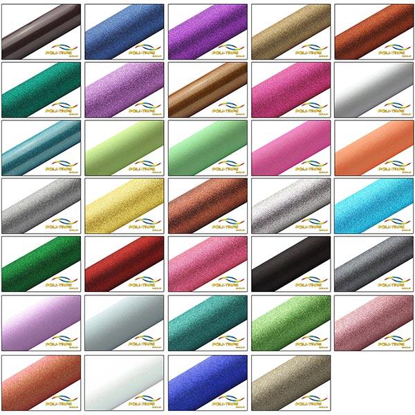 Flexfolie Pearl Glitter Poli-Flex DIN A4 Regenbogen – weiss