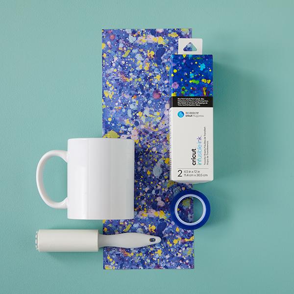 Cricut Joy Infusible Ink Transferbogen Paint Splash- 2 Bogen [ 11,4 x 30,5 cm ] – blau