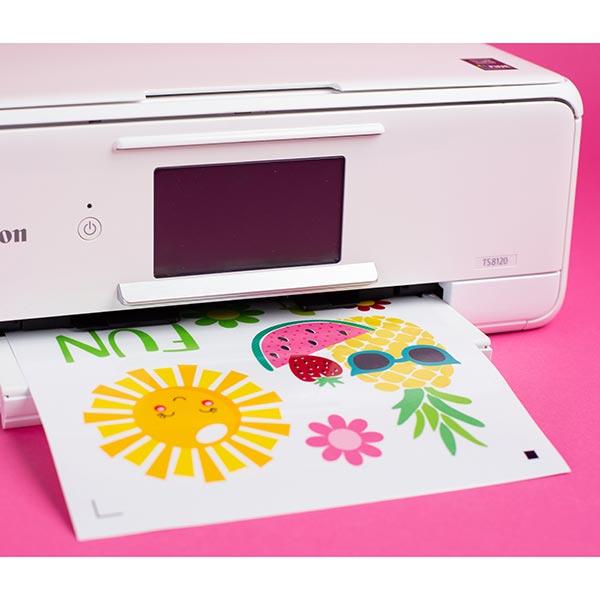 Silhouette Film statique pour fenêtre Imprimable [ 21,5 x 27,9 cm|3 Pièces] – blanc