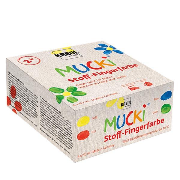 MUCKI Stoff-Fingerfarbe Set[ 4 x 150 ml ]   Kreul – Farbmix