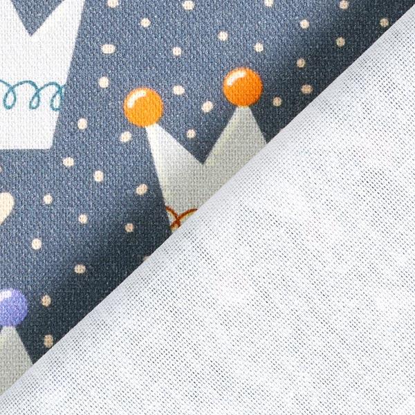 Tissu de décoration Semi-panama Couronnes – gris foncé