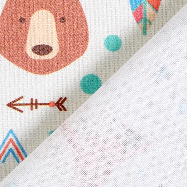 Tissu de décoration Semi-panama Indiens – écru