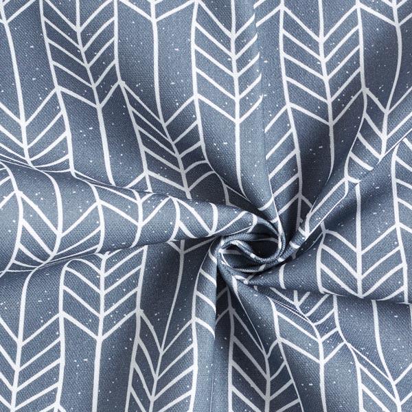 Tissu de décoration Semi-panama Motif de flèches – gris foncé