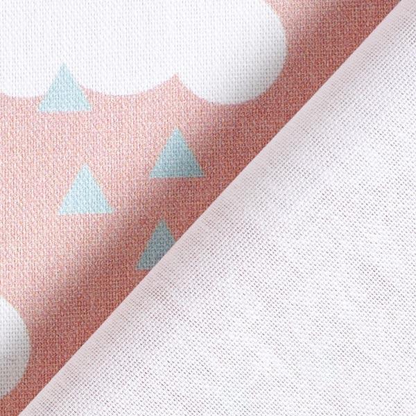 Tissu de décoration Semi-panama Nuages – rose