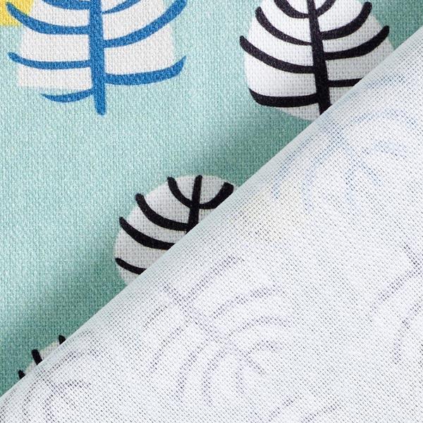Tissu de décoration Semi-panama Oiseaux – vert menthe