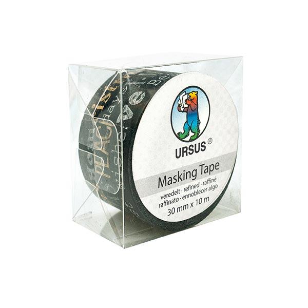 Washi Tape XL X-Mas [ 30 mm / 10 m ] – schwarz/gold