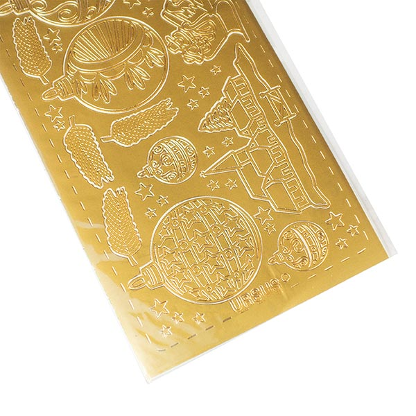 Kreativ-Sticker Weihnachten [ 10 x 23 cm ] – gold