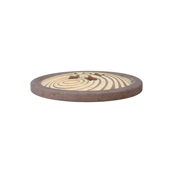 Bouton polyester 4 trous  – mocca