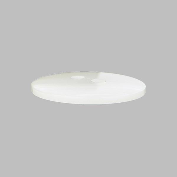 Bouton plastic Nacre basique - blanc