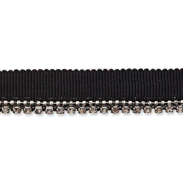 Passepoil avec strass [ 13 mm ] – noir