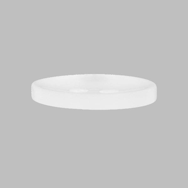 Bouton plastique Uni - blanc