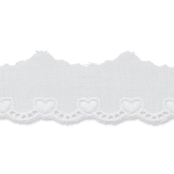 Feston Cœur – blanc