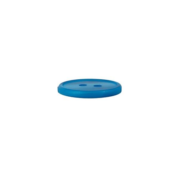 Bouton polyester 2 trous  – bleu aqua