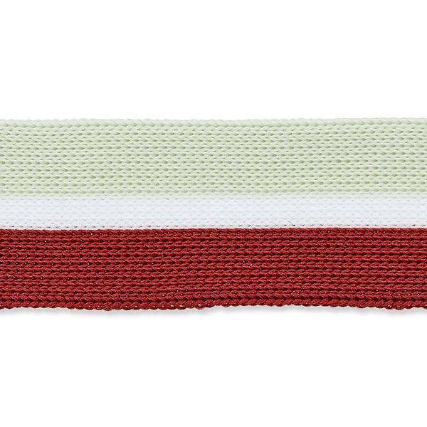 Tresse  [25mm] – beige/rouge
