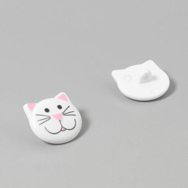 Bouton en plastique, chat 1