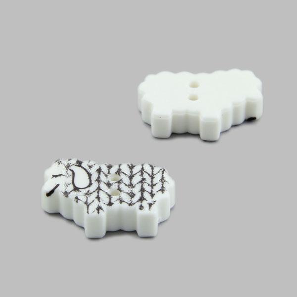 Bouton en plastique petit mouton 1
