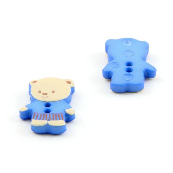Bouton en plastique ourson 10