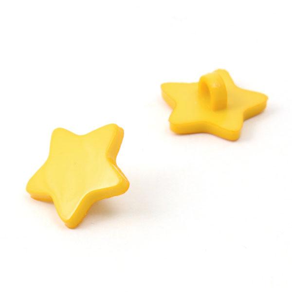 Bouton en plastique petites étoiles 3