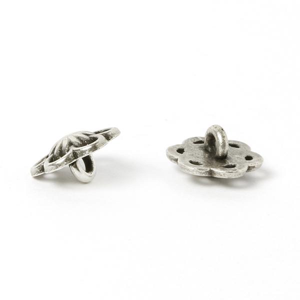 Bouton métal Petites fleurs