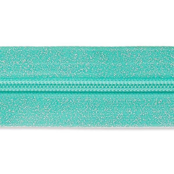Fermeture éclair infinie – bleu turquoise/argent