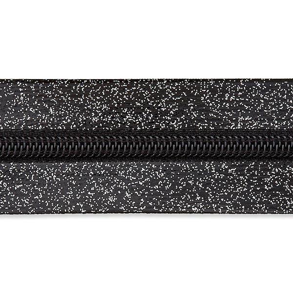 Endlosreißverschluss – schwarz/silber
