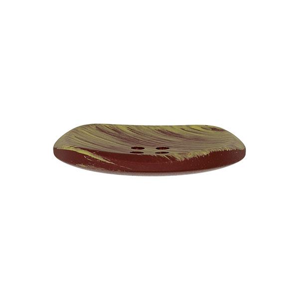 Bouton en plastique à effets – marron/vert