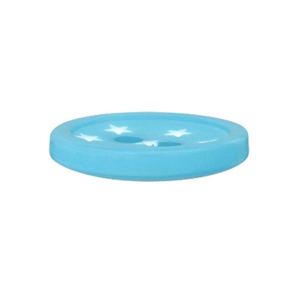 Bouton plastique Étoiles – turquoise