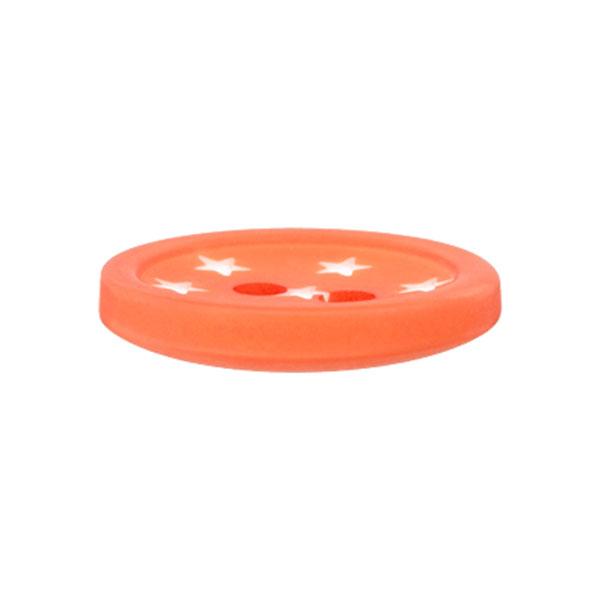 Bouton plastique Étoiles – orange