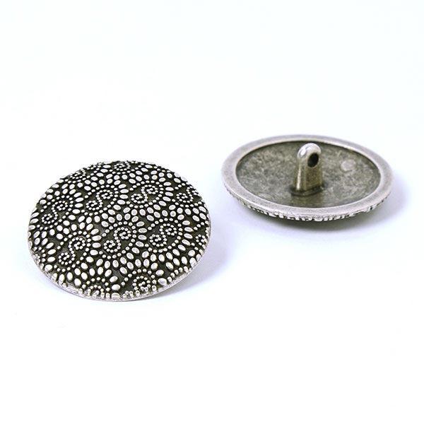Bouton en métal Orient – argent