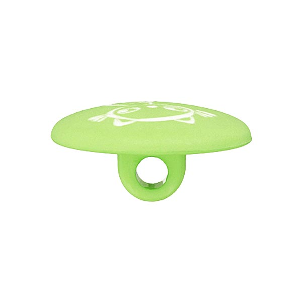 Bouton polyester Chat 2 – vert clair