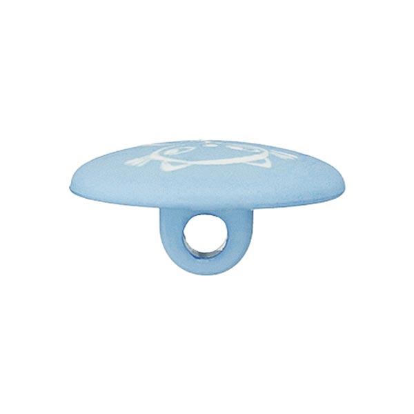 Bouton polyester Chat 8 – bleu clair