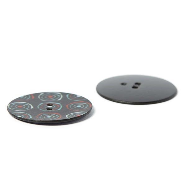 Bouton polyester Rétro 4 – noir