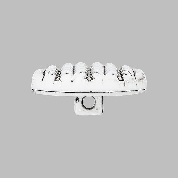 Bouton à queue Tricot - blanc