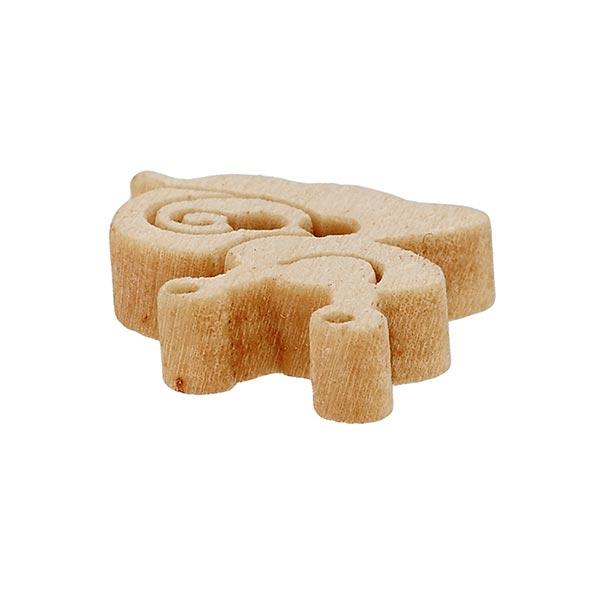 Bouton en bois Escargot