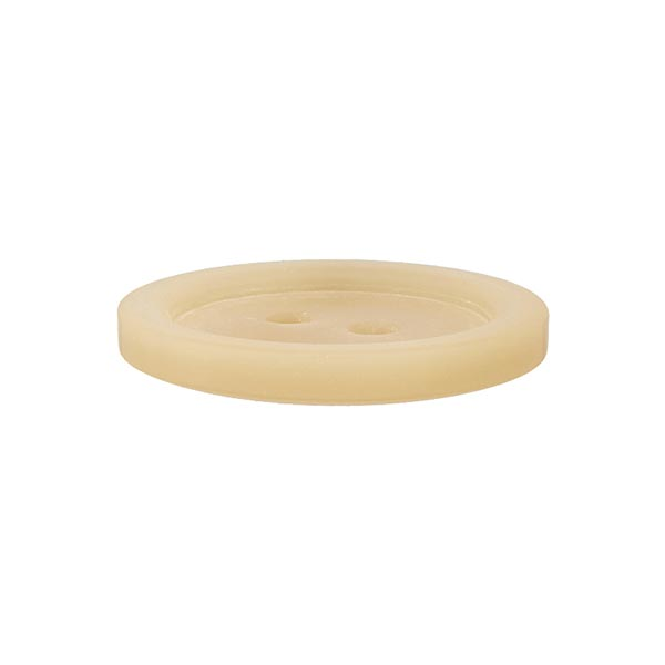 Bouton plastique 2 trous Basic - beige clair